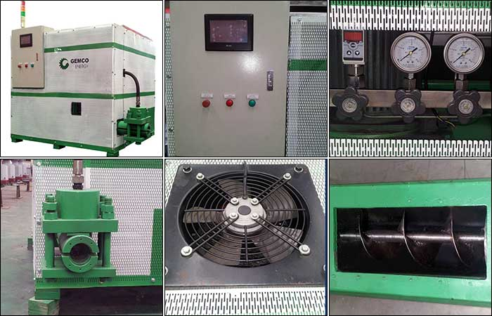 Hydraulic briquette making machine