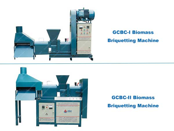 Screw press briquette machine