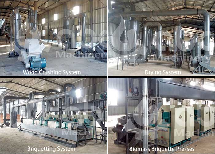 biomass briquette production line from AGICO