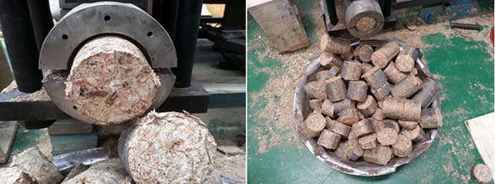 biomass briquettes made by hydraulic briquette making machine