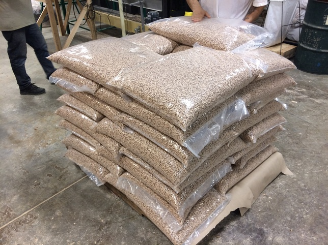 packaged wood pellets from GEMCO
